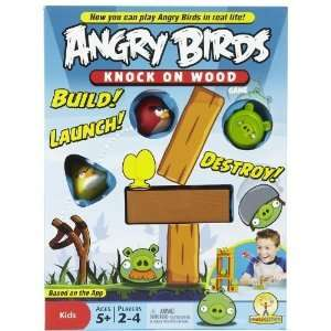 Angry Birds Board Family Fun Game Set Toy Knock On Wood Build 2   4