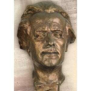 Post Card Bust of GUSTAV MAHLER 2000 & Jihlava (Milan Knobloch, busta