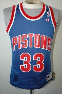 Vtg Champion Grant Hill Detroit Pistons Jersey 36 RARE
