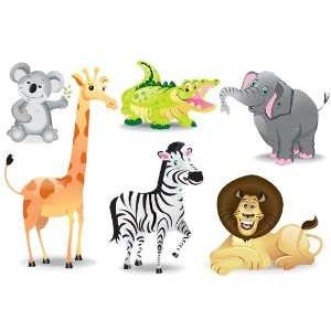 Jungle Animals Zoo Animals Wall Mural Stickers Baby
