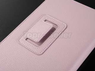 Pink  Kindle Fire PU Cover Case/Film/CA Charger/USB Cable