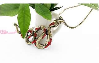 New hot style 12pcs Fashion Charming Retro RED Snake Necklaces