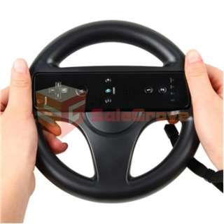 NEW STEERING Black WHEEL FOR Nintendo Wii MARIO KART RACING GAME