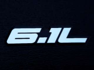 DODGE CHARGER CHALLENGER 300C SRT8 6.1L HEMI ENGINE EMBLEMS BADGE