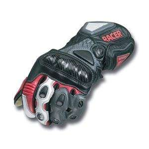 Racer High End Leather Gloves   Small/Red Automotive