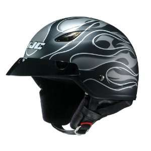 HJC CL 21M Reign MC 5F Open Face Motorcycle Helmet Flat Black/Silver
