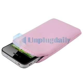 Pink Bling Diamond Hard Back Case+Sock for Verizon ATT Apple iPhone 4S