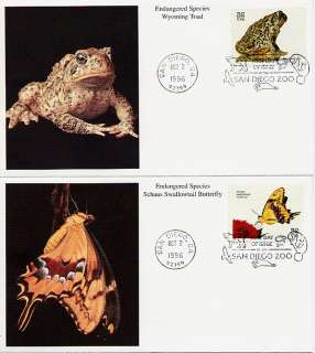 3105 ENDANGERED SPECIES FDC SET BY MYSTIC 1996