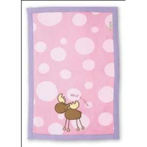 Stephen Joseph Moose Baby Burp Cloth (pink) Baby
