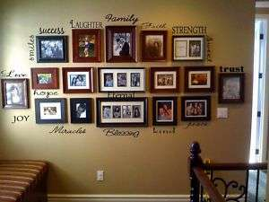 FAMILY Lettering Collage Wall Decal Decor Words Sticker