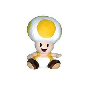 Super Mario Bros. Wii Plush   Yellow Toad Toys & Games