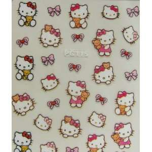 XH Lovely and cute hello kitty nail art stickers with bows