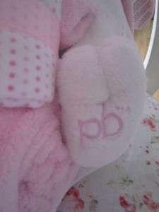 PB PICCOLO BAMBINO BUNNY RABBIT PINK CHAMOIS 3 BLANKETS LARGE GIFT SET