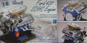 REVELL FORD 427 SOHC ENGINE MODEL KIT 1/6 NEW 851565