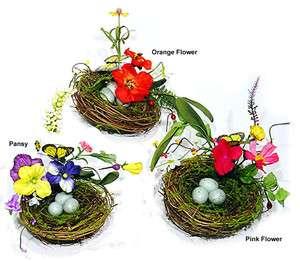 Artificial Bird Nest Eggs Butterfly Flower Home 5 dia