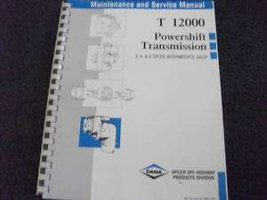 Dana T12000 Powershift Transmission 3,4,6 speed manual