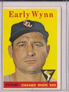 1956 Topps Early Wynn White Sox Yellow Team Card#100B