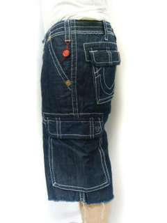 TRUE RELIGION Jeans Mens ISAAC Cargo Shorts Denim NWT