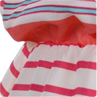 81917 Japan Korean Fashion Style Color Stripe Sleeveless Dress