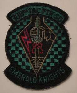 USAF PATCH ~ 308th TACICAL FIGHTER SQUADRON EMERALD KNIGHTS LUKE AFB