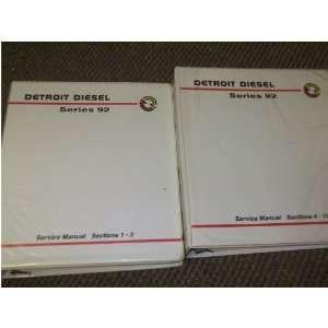 Detroit Diesel SERIES 92 Service Shop Repair Manual Set