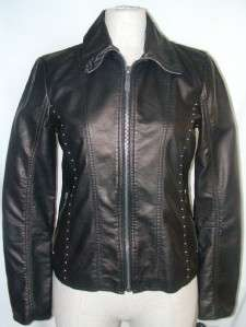 NWT M60 Miss Sixty Studded Faux Leather Jacket M