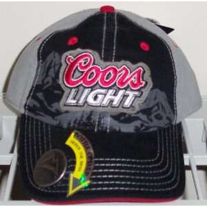 COORS LIGHT Embroidered Layered Bottle Opener Black Baseball Cap Hat