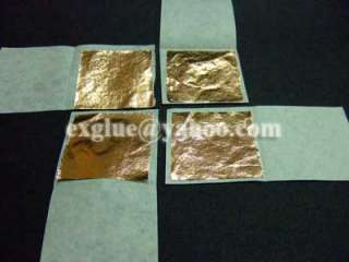 100 Patina Copper foil Sheets Leaf Tiles Wall Decal Art