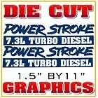 Ford Powerstroke Window Decal Turbo Diesel Graphic Sticker Truck