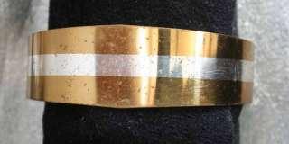 Lillian Vernon 70s Art Moderne Sterling Inlay Bracelet
