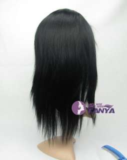Straight 12 _100% Indian Remy Human Hair Full Lace / Lace Front Wig