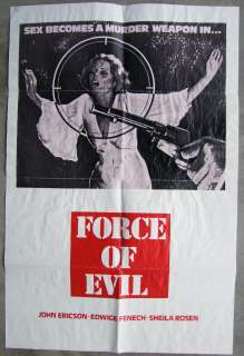 Force of Evil Vintage Edwige Fenech Western Exploitation 1SH Movie