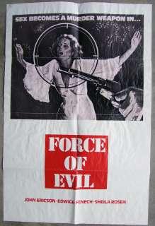 Force of Evil Vintage Edwige Fenech Western Exploitation 1SH Movie