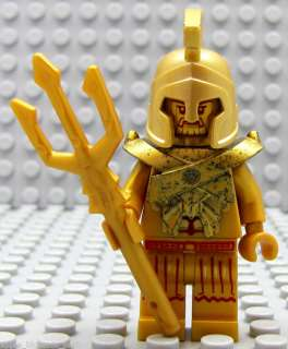 NEW Lego Atlantis Gold Minifig TEMPLE KING STATUE 7985