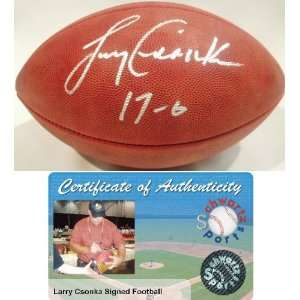 Larry Csonka Signed Official NFL Football w/17 0 Sports