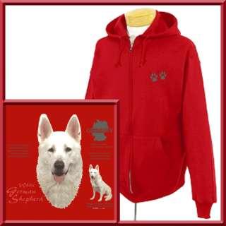 White German Shepherd Dog Origin ZIP UP HOODIE S 2X,3X