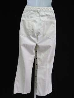 THEORY White Denim Boot Cut Jeans Pants Sz 0