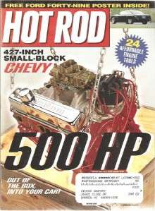 August 2001 Hot Rod Ford Forty Nine Poster LS5 Chevelle Tom Stephens