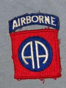 PATCH WW2 US ARMY 82ND AIRBORNE INFANTRY DIV 1 PIECE SNOWBACK AS