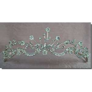 Bridal Wedding Tiara Crown With Flowers 64335 Beauty