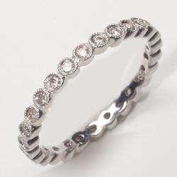 Estate Diamond 14k Gold Eternity Wedding Anniversary Ring Band