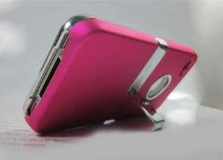 NEW apple iphone case 4 4g hard chrome stand cover body