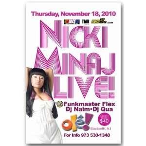 Minaj Poster   LH Concert Flyer  Pink Friday Tour