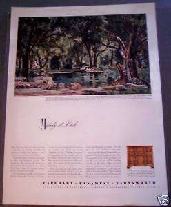 1942 Capehart Panamuse Farnsworth Aiding War Effort Ad