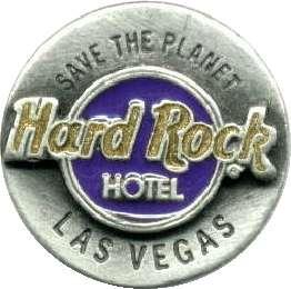 Hard Rock Hotel LAS VEGAS 1995 Round PEWTER Logo PIN Catalog #4698
