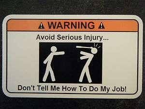 Avoid injury Tool Box Warning Sticker   Gold   Snap on Funny mac