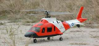 Agusta A109 SAR Painted 450 RTF RC Helicopter w/ Retractable Gear