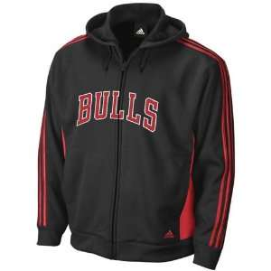 adidas Chicago Bulls Black Team Spirit Full Zip Hoody