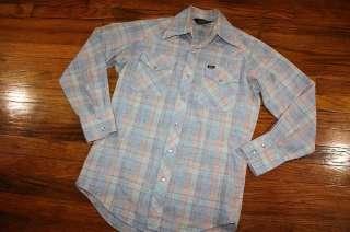 vtg 70s LEE Western Pearl Snap shirt * cowboy * USA