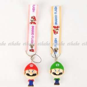 Super Mario Luigi Camera Phone Strap Lanyard Cell Phones